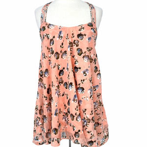 Lucy Paris Pink Floral Lined Boho Dress XS NWT